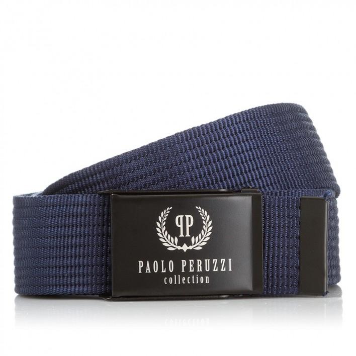 GRANATOWY PASEK PARCIANY PAOLO PERUZZI PW-09-PP