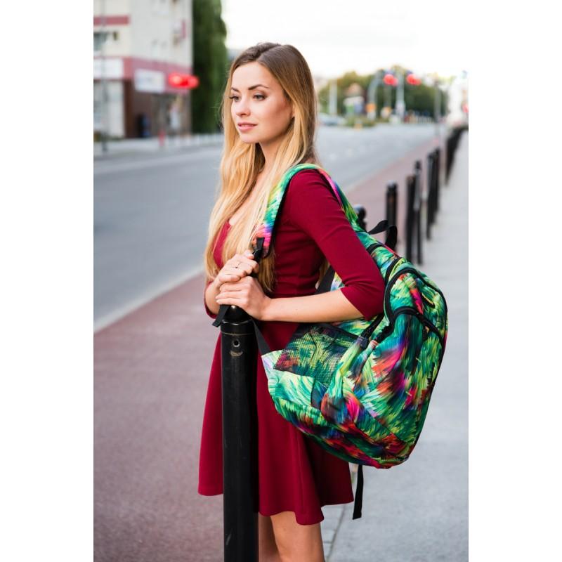 neonowy plecak damski
