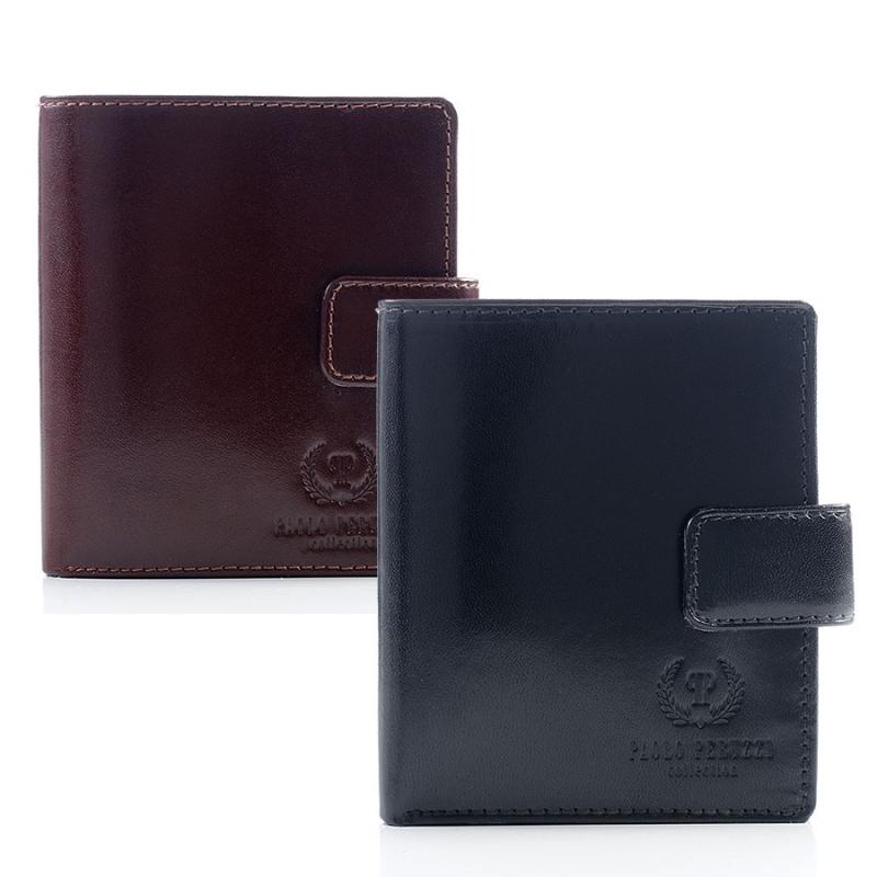 Skórzany portfel męski Paolo Peruzzi z zapinką