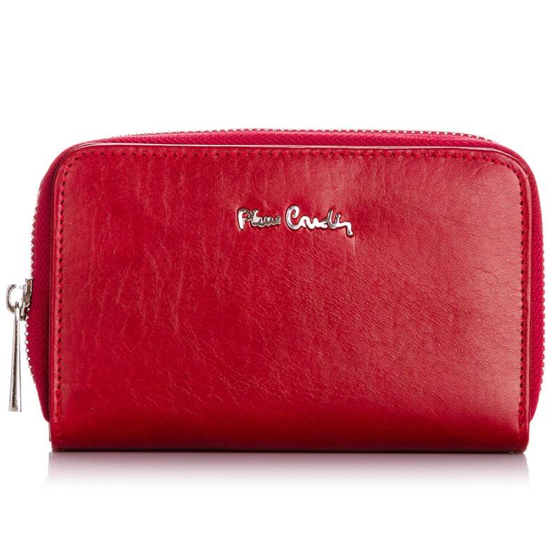 Czerwony portfel damski Pierre Cardin