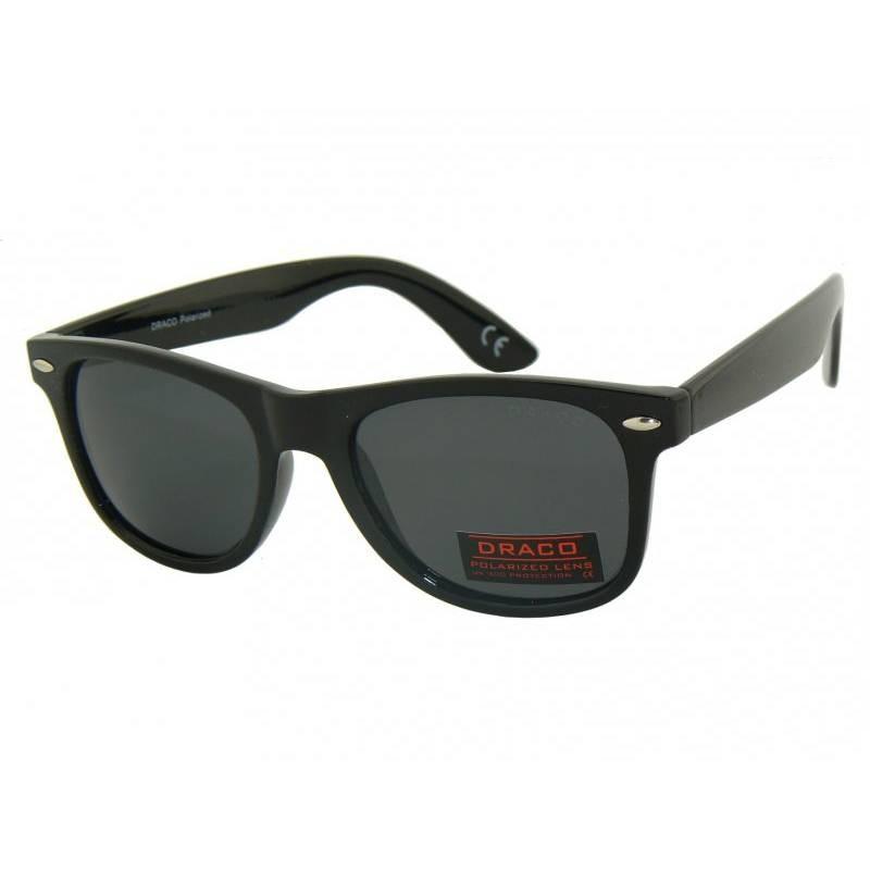 czarne okulary nerdy z polaryzacją